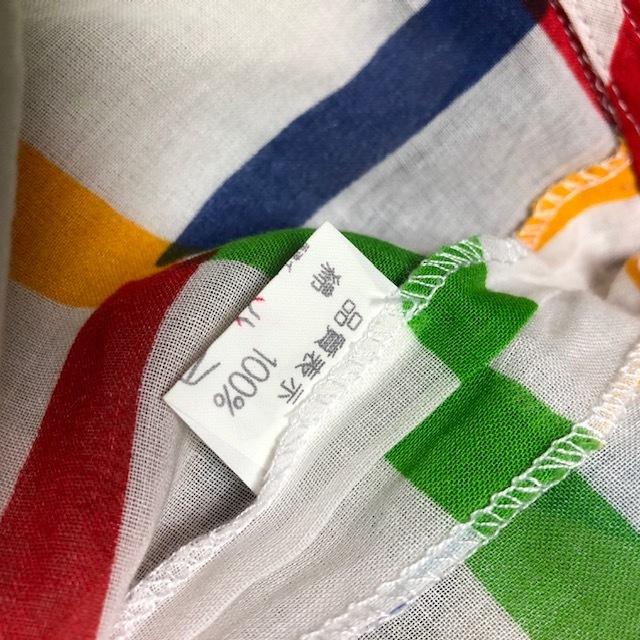 レトロ古着 80's~ カラフル レトロワンピース WEST COACTコットン 昭和レトロ ヴィンテージ ★26