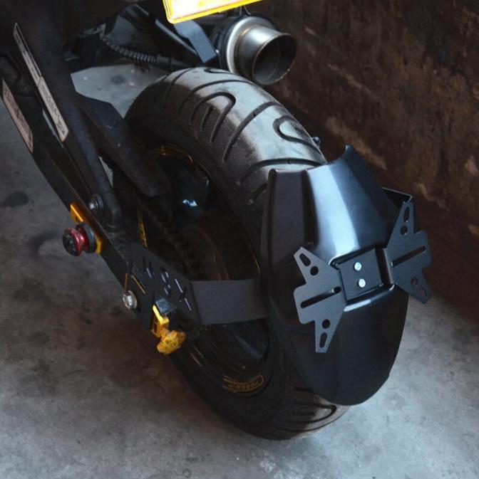 N1629 ホンダ GROM/MSX125/M3 オートバイリアマッドガード ホイールタイヤ スプラッシュカバーガード ナンバープレート_画像4