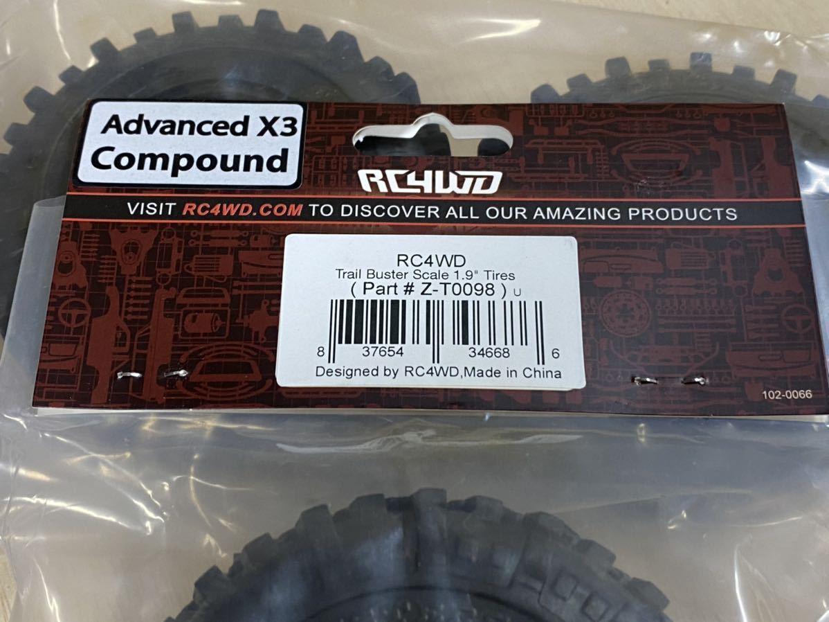 送料無料 新品 RC4WD トレイルバスター 1.9インチホイール用タイヤ 検 rc4wd アキシャル トラクサス タミヤ tf2 scx10 trx4 cc-02