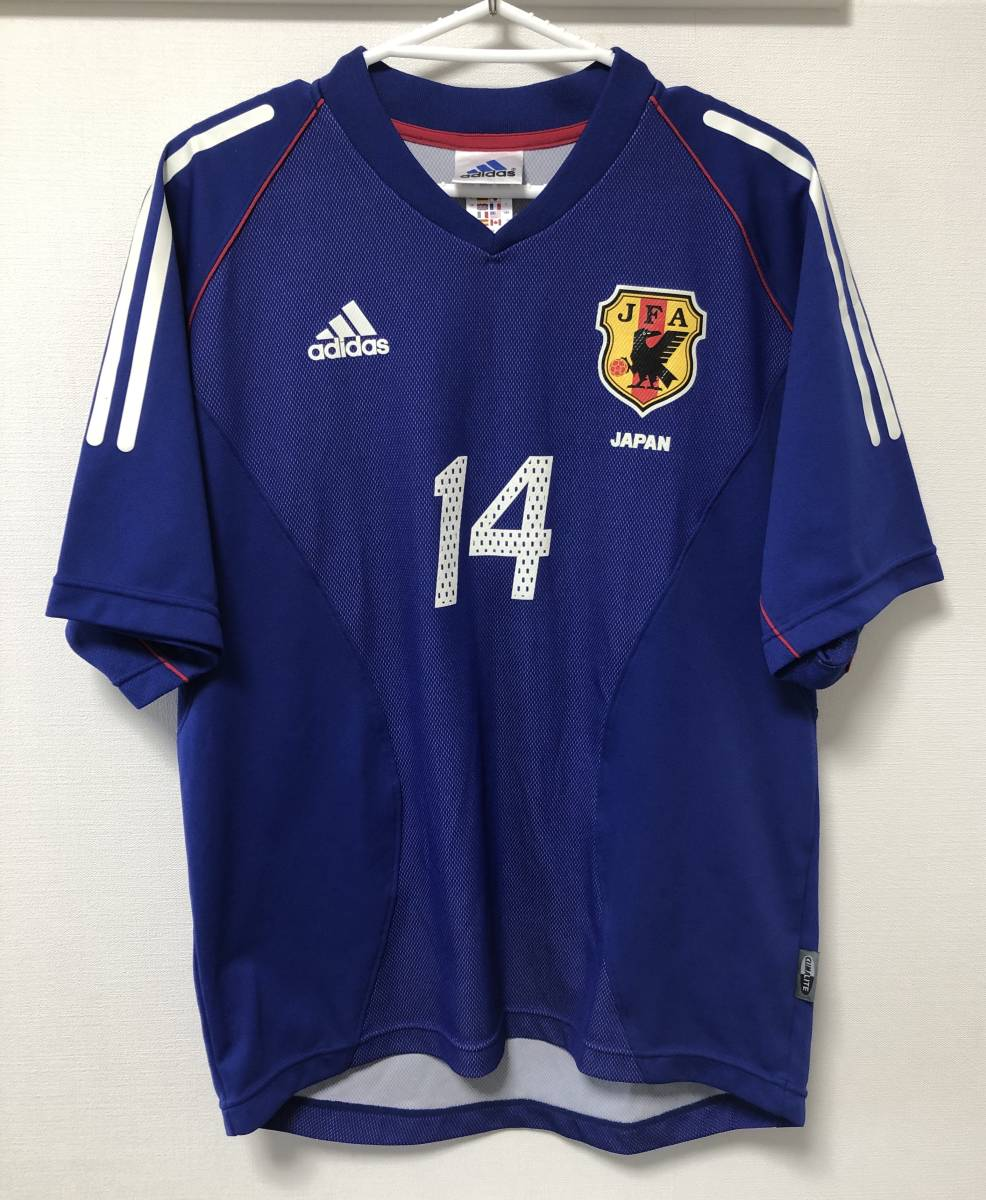 アディダス 日本代表 2002年 日韓W杯モデル 背番号14 ホーム ユニフォーム サイズM 日本製_画像2