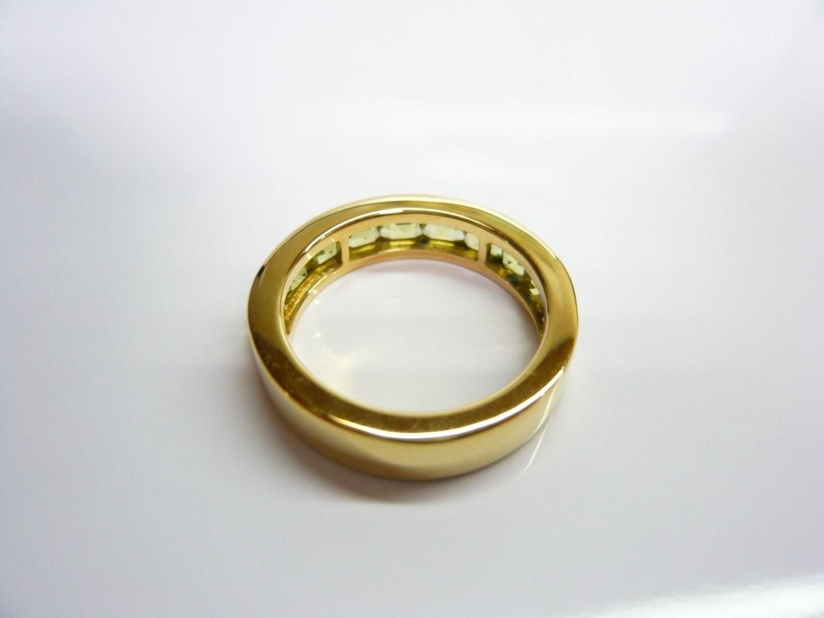 質屋出品【リング】K18 ペリドット デザイン 指輪_画像6