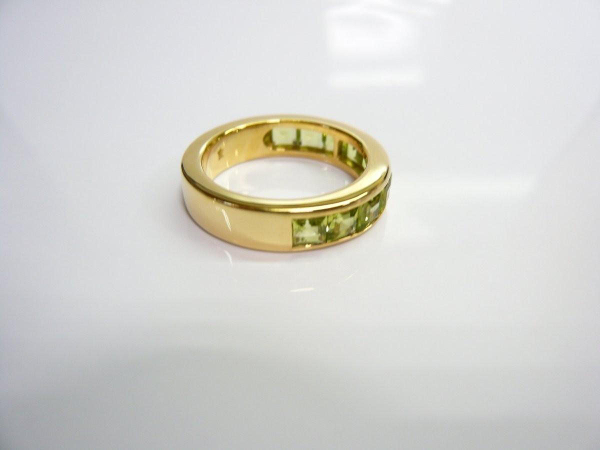 質屋出品【リング】K18 ペリドット デザイン 指輪_画像4