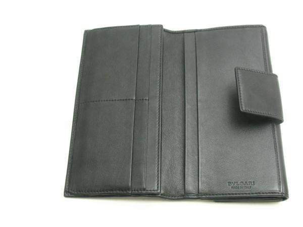 中古【BVLGARI】三つ折り長財布 Wホック コローレ_画像4