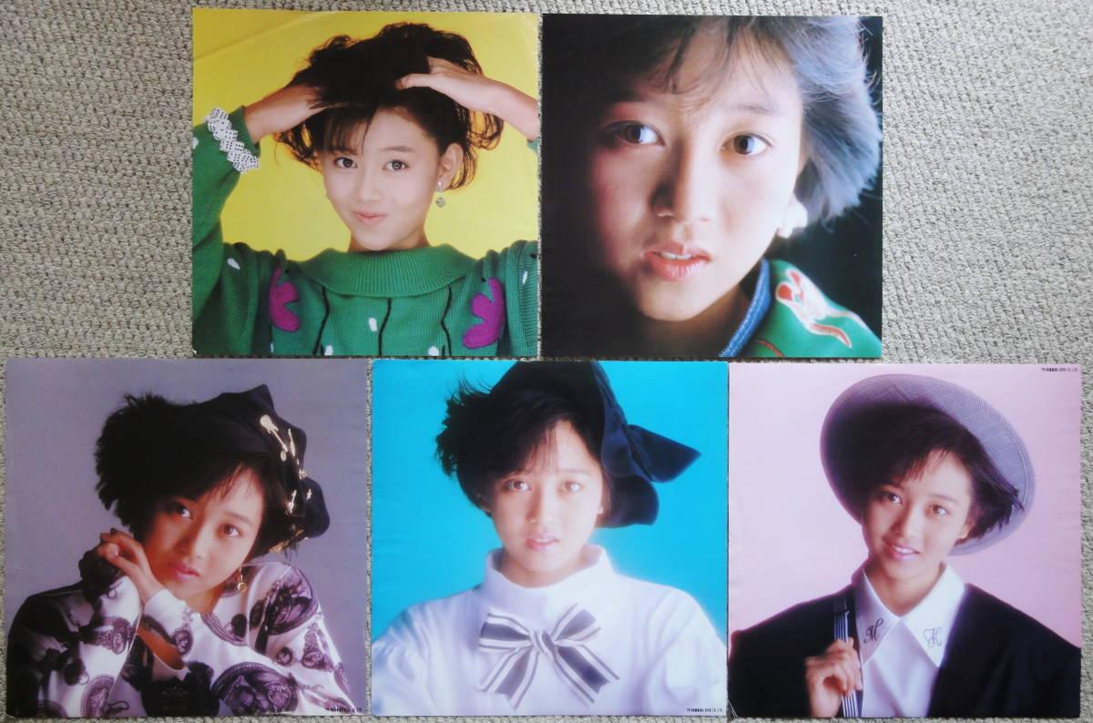◆ポスター ポートレート◆浅香唯 5枚セット◆LP付属品_画像1