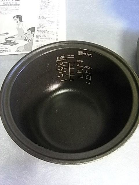 タイガー 土鍋 IH炊飯ジャー(炊きたて) 3合 0.54L JKM-G550T Used 取説付_内釜 傷剥がれ少ないです。