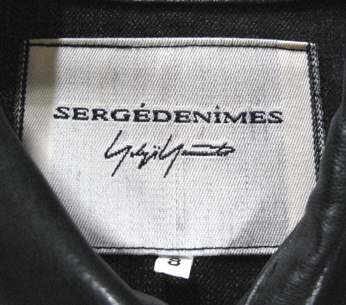 ヨウジ Yohji : ツートンカラー レザー Gジャン ( ワイズ デニム ジャケット 本革 Yohji Yamamoto leather denim jacket_画像6