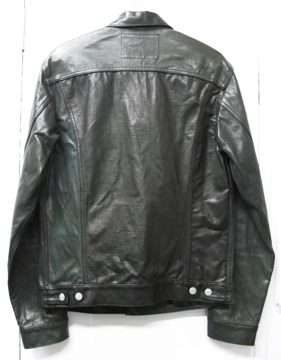 ヨウジ Yohji : ツートンカラー レザー Gジャン ( ワイズ デニム ジャケット 本革 Yohji Yamamoto leather denim jacket_画像2