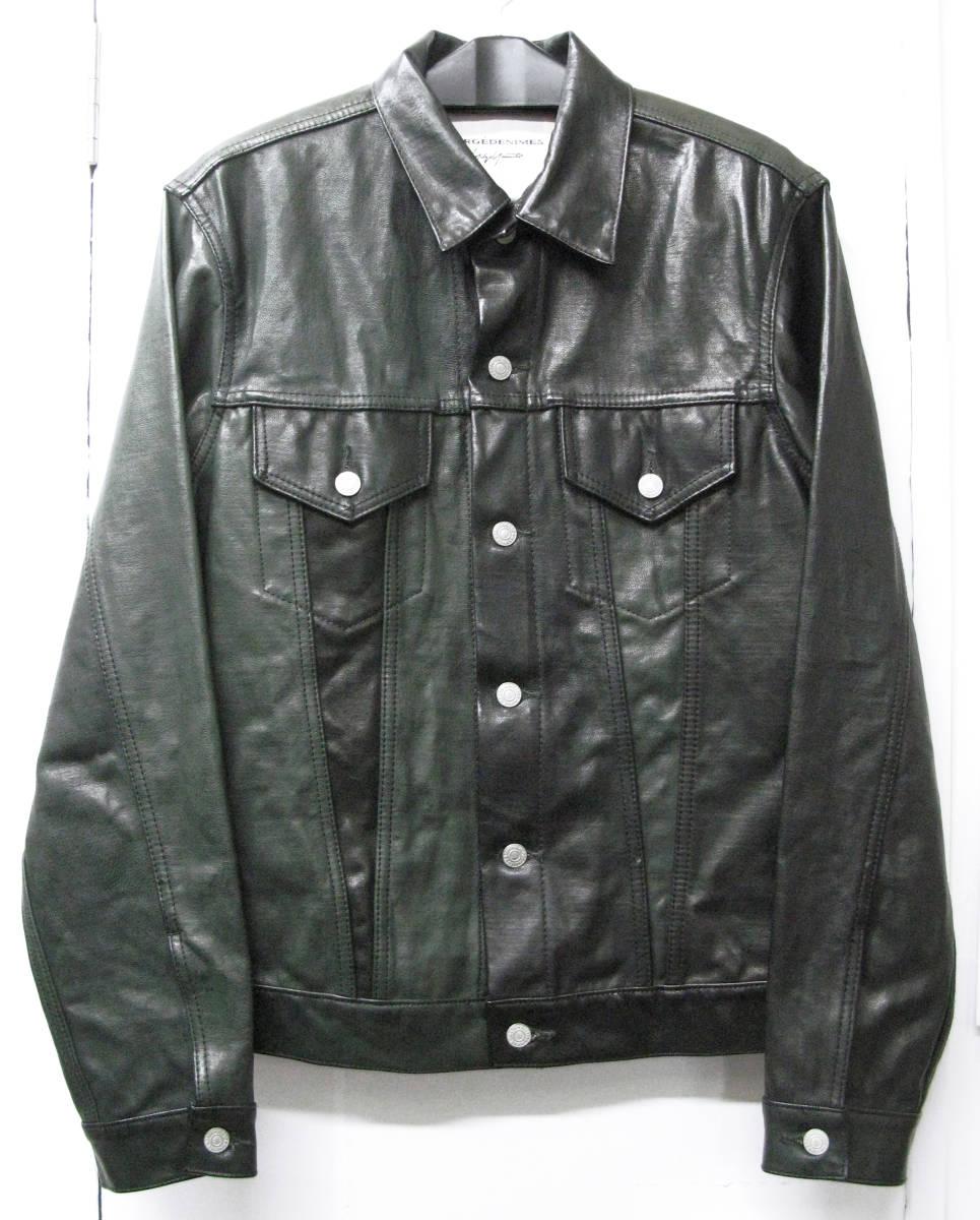 ヨウジ Yohji : ツートンカラー レザー Gジャン ( ワイズ デニム ジャケット 本革 Yohji Yamamoto leather denim jacket_画像1