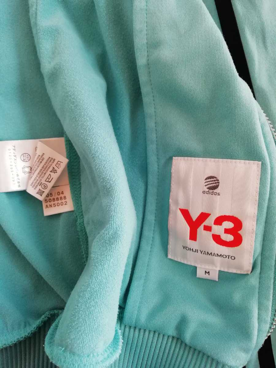 Y-3 ADIDAS YOHJI YAMAMOTO トラックジャケット ジャージ M ターコイズ ヨウジヤマモト_画像4