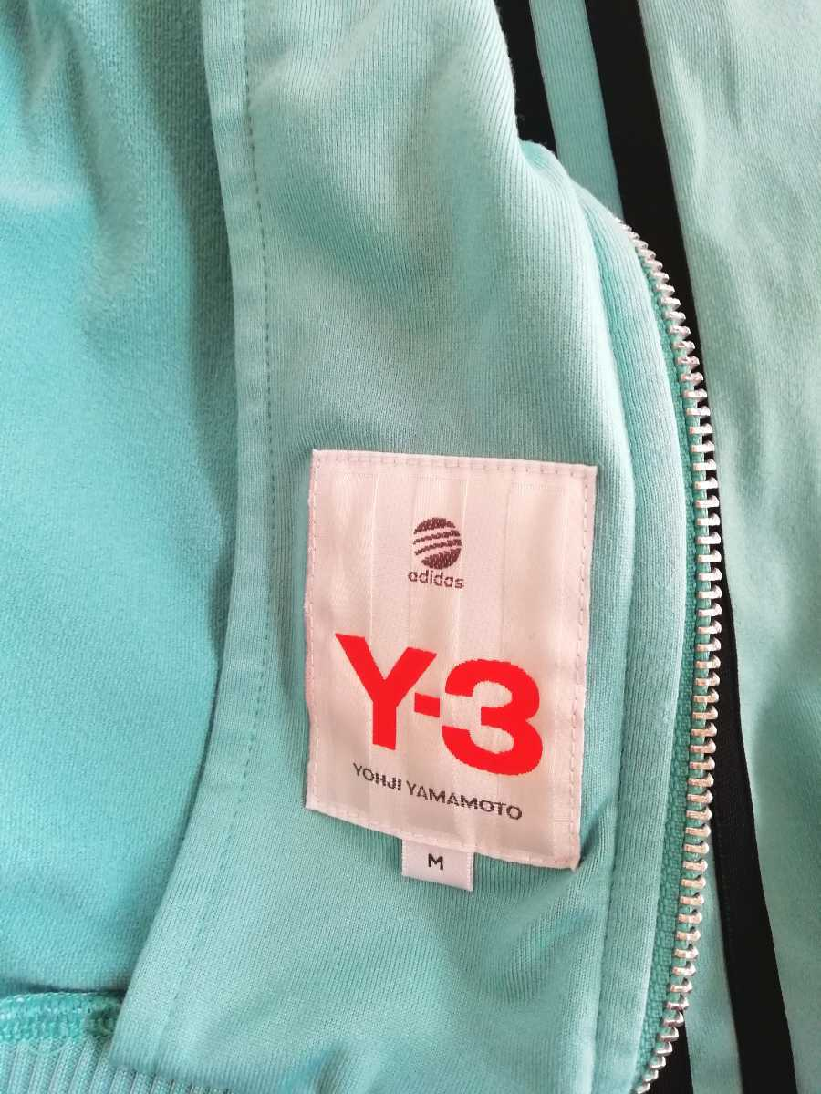 Y-3 ADIDAS YOHJI YAMAMOTO トラックジャケット ジャージ M ターコイズ ヨウジヤマモト_画像3