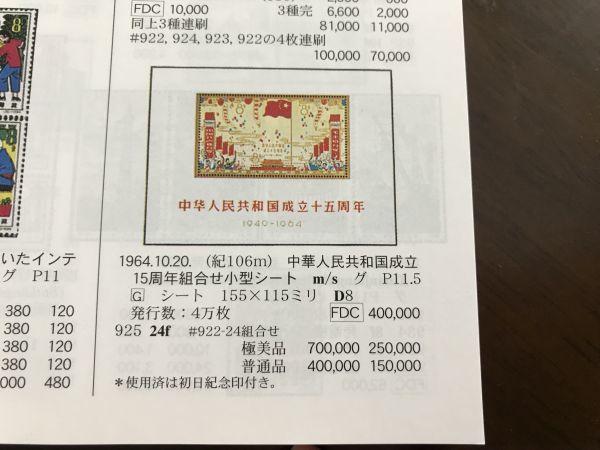 【知之】レア!中国切手 紀106m 未使用 中華人民共和国成立十五周年 小型シート 1949-1964 美品 コレクター収集品 本物保証_新中国切手カタログ2017年版評価