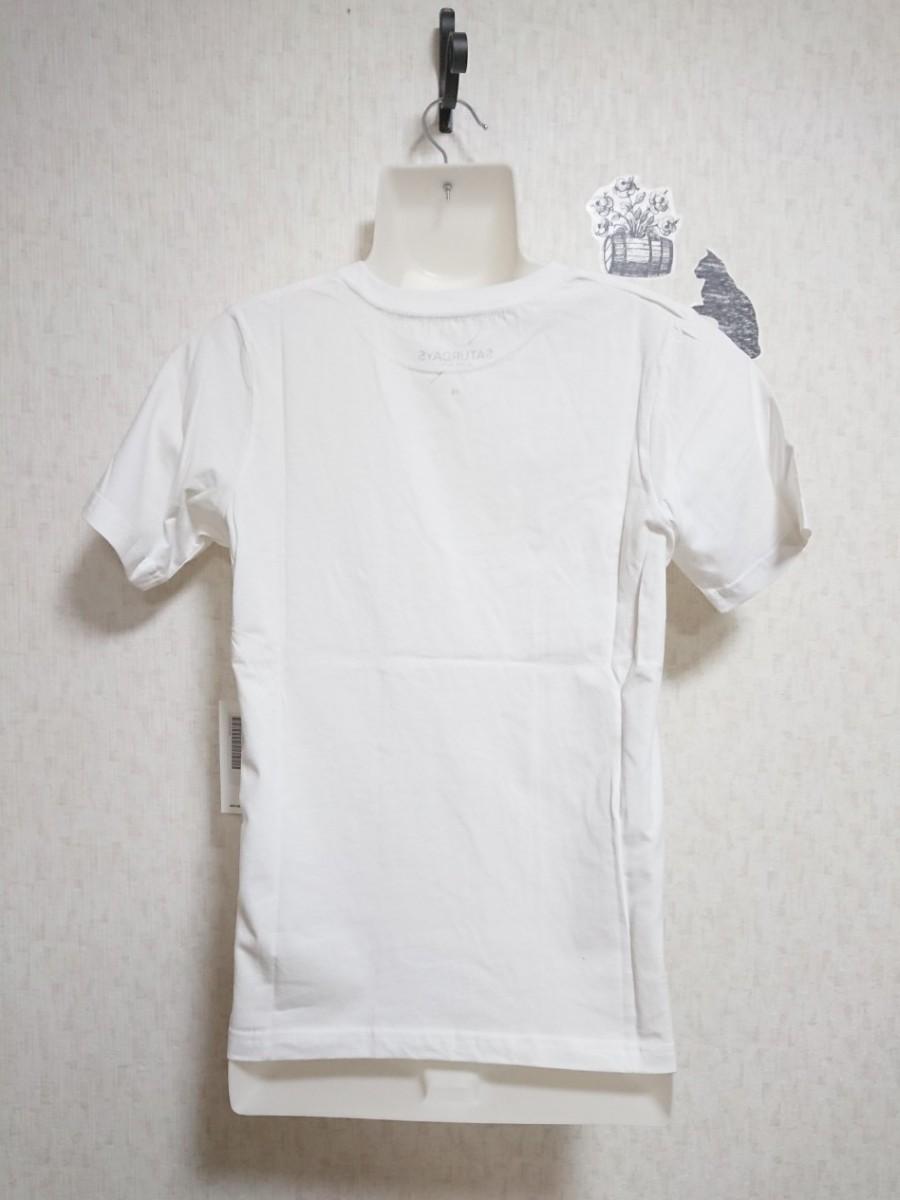 【XS】SATURDAYS SURF  NYC  〝 S〟ロゴTシャツ(白)