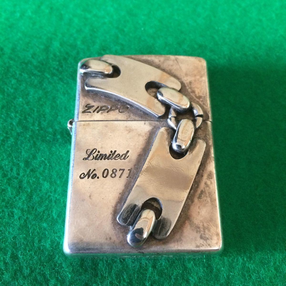 古い ビンテージ ZIPPO limited 古いジッポー ライター アンティーク コレクション レア リミテッド 希少品 NO.0871 (1)_画像1