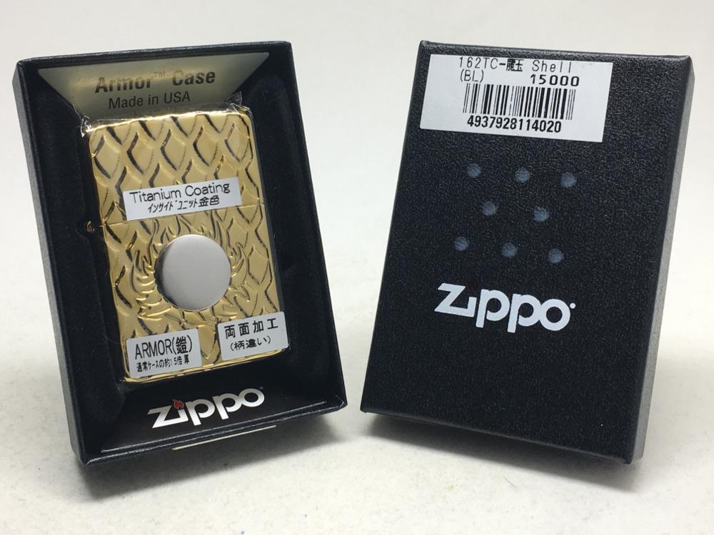 送料無料 ZIPPO[ジッポー]アーマー両面加工 162TC-龍玉 シェル ブルー チタンコーティング_画像5