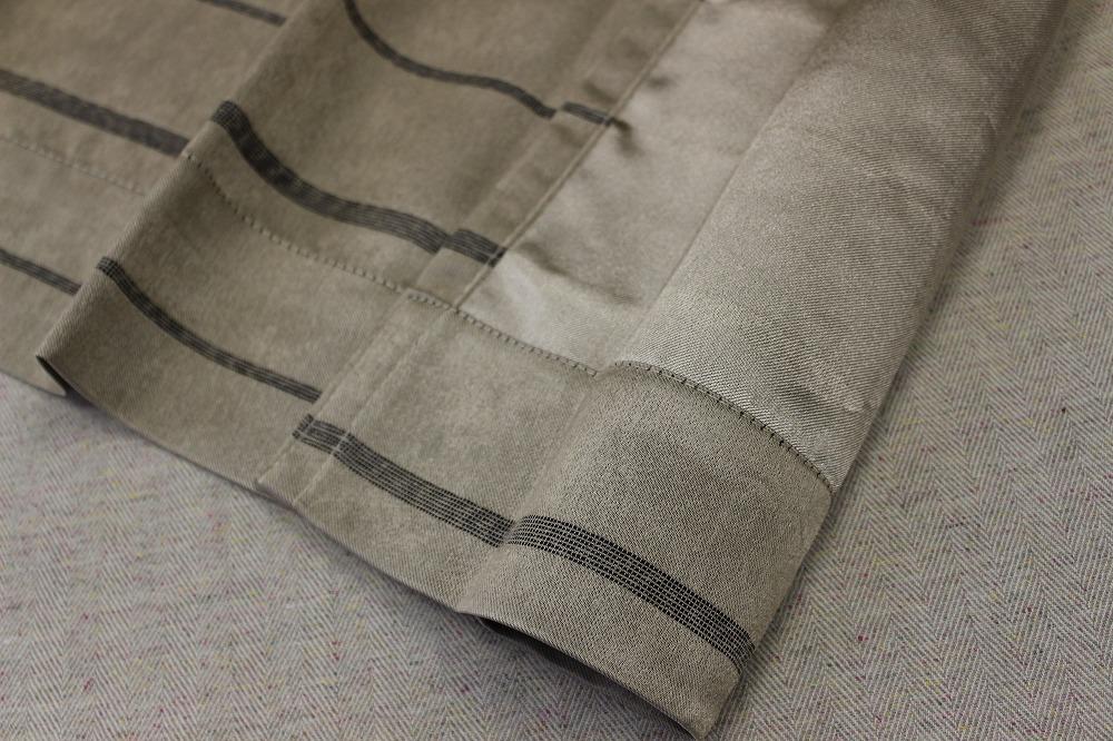 ☆遮光デザインドレープカーテン:100×110cm:2枚 BE/サリエリライン/プリーツ☆560_画像3