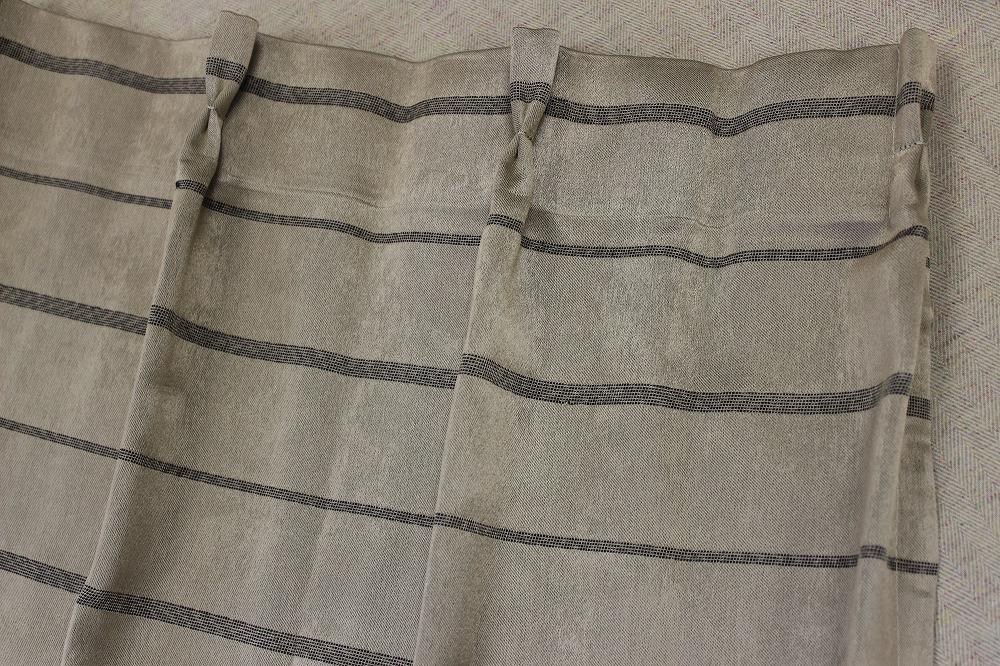 ☆遮光デザインドレープカーテン:100×110cm:2枚 BE/サリエリライン/プリーツ☆560_画像4