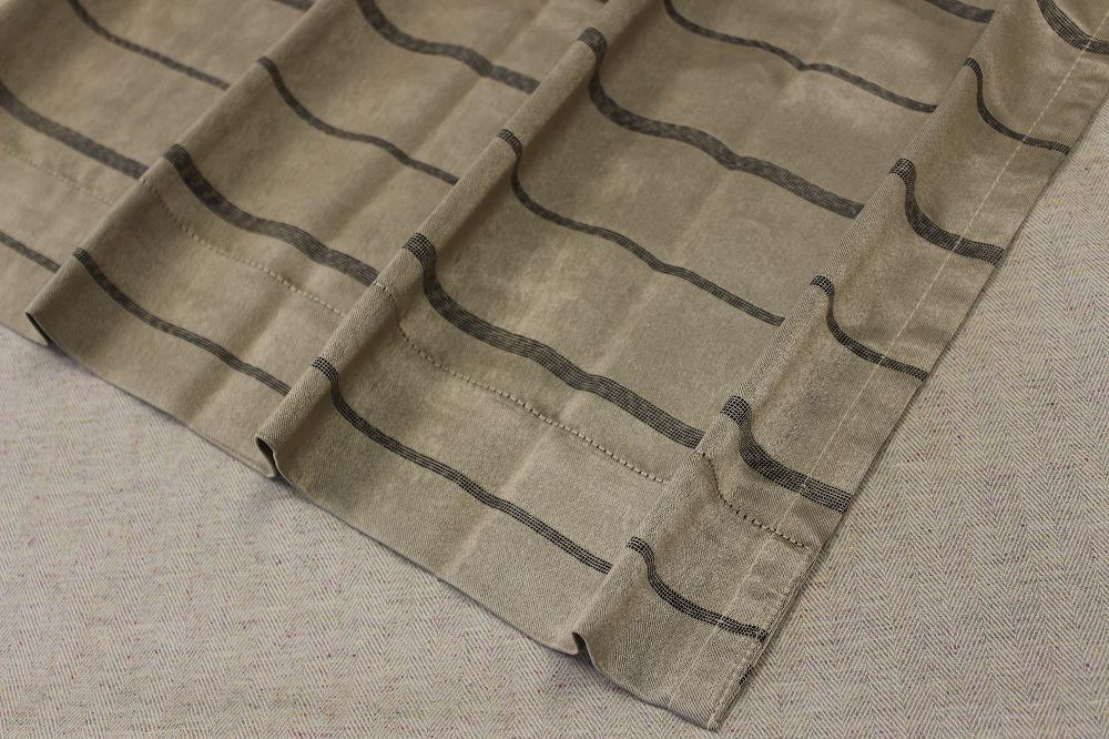 ☆遮光デザインドレープカーテン:100×110cm:2枚 BE/サリエリライン/プリーツ☆560_画像1