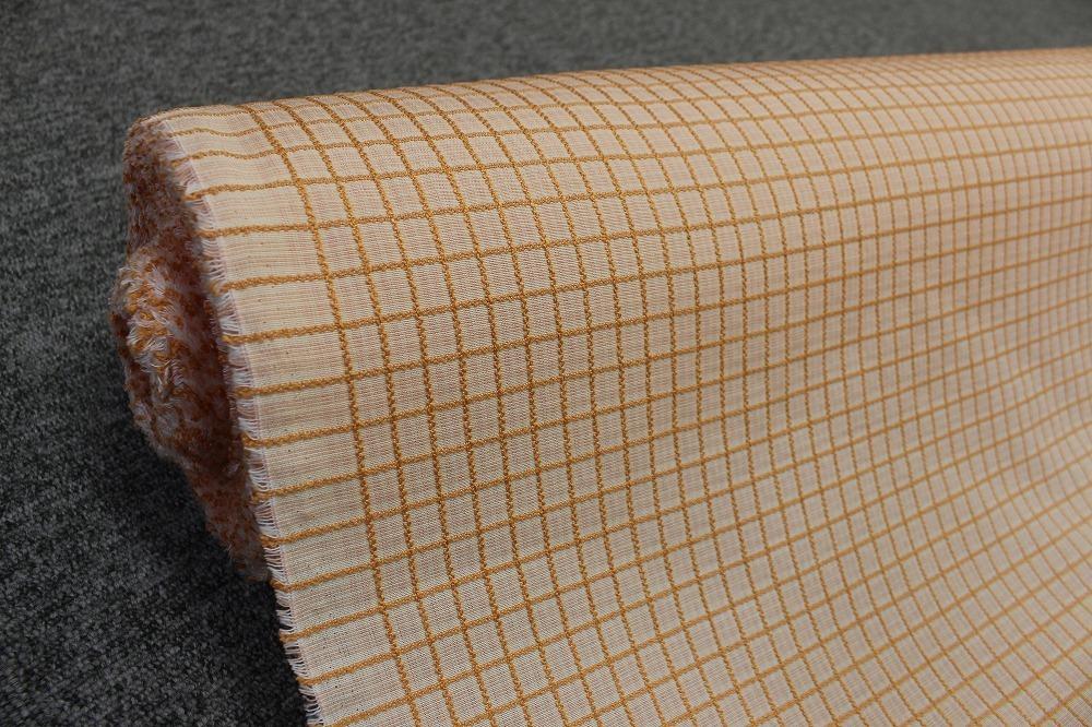 ☆カーテン生地:幅150cm×4mでカット スワミン/ORプレイド☆BW119125_画像1