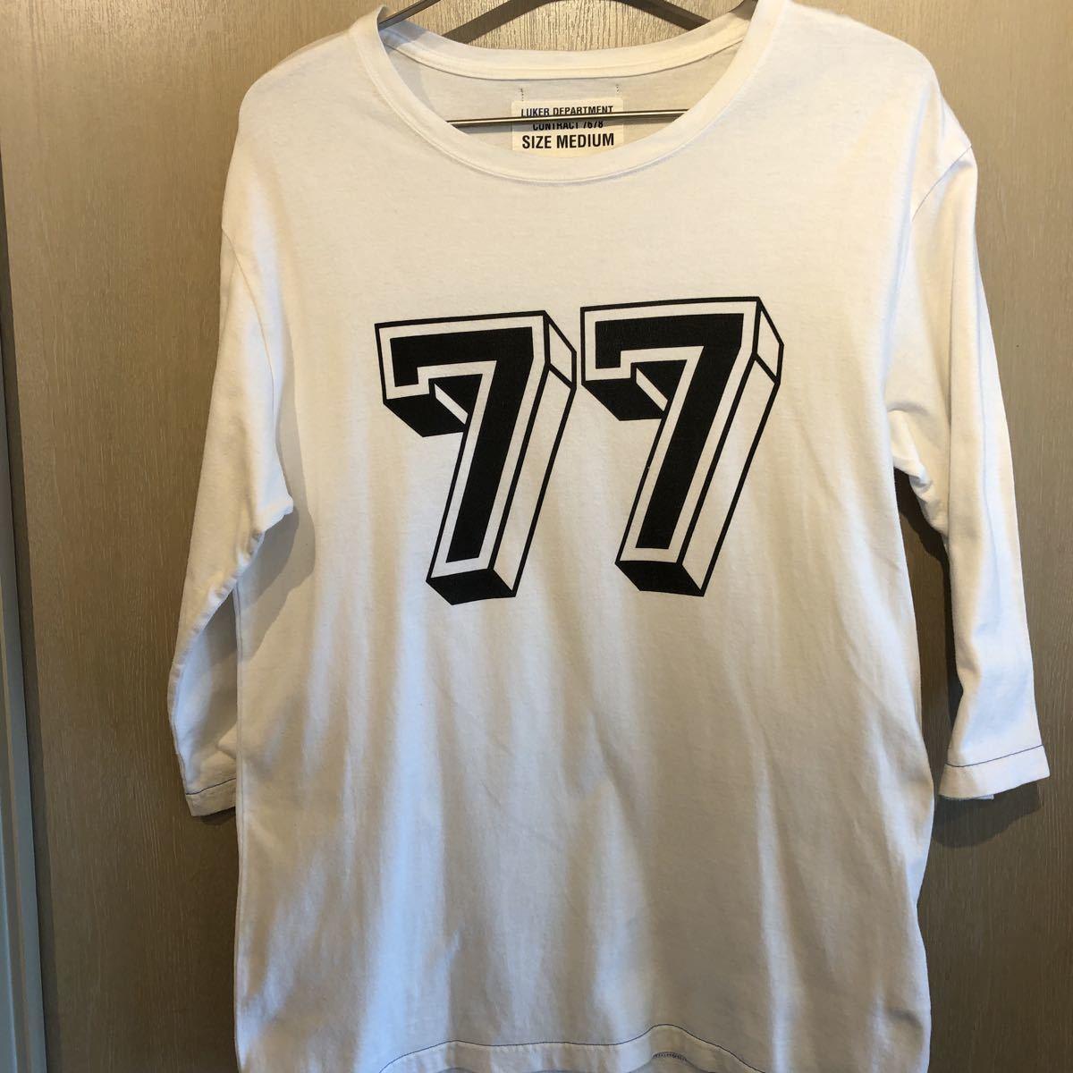 LUKER BY NEIGHBORHOOD ネイバーフッド ルーカー サイズ M 7分丈 白 Tシャツ