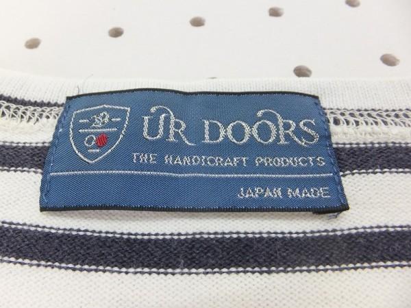 URBAN RESEARCH DOORS アーバンリサーチドアーズ レディース ボーダー やや厚手 半袖Tシャツワンピース 白紺_画像2