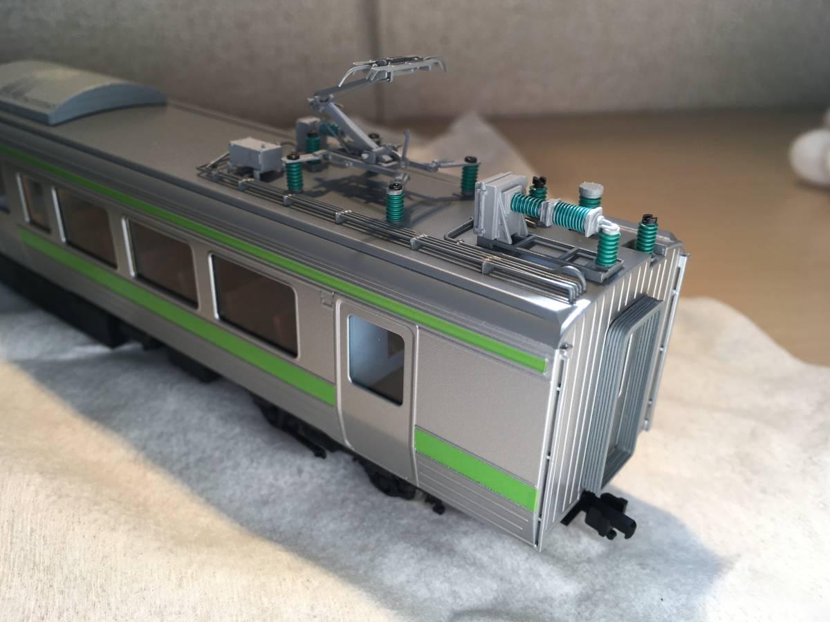 エンドウ 721系3000番台 3両セット(普通車のみ、シングルアームパンタに交換)_画像4