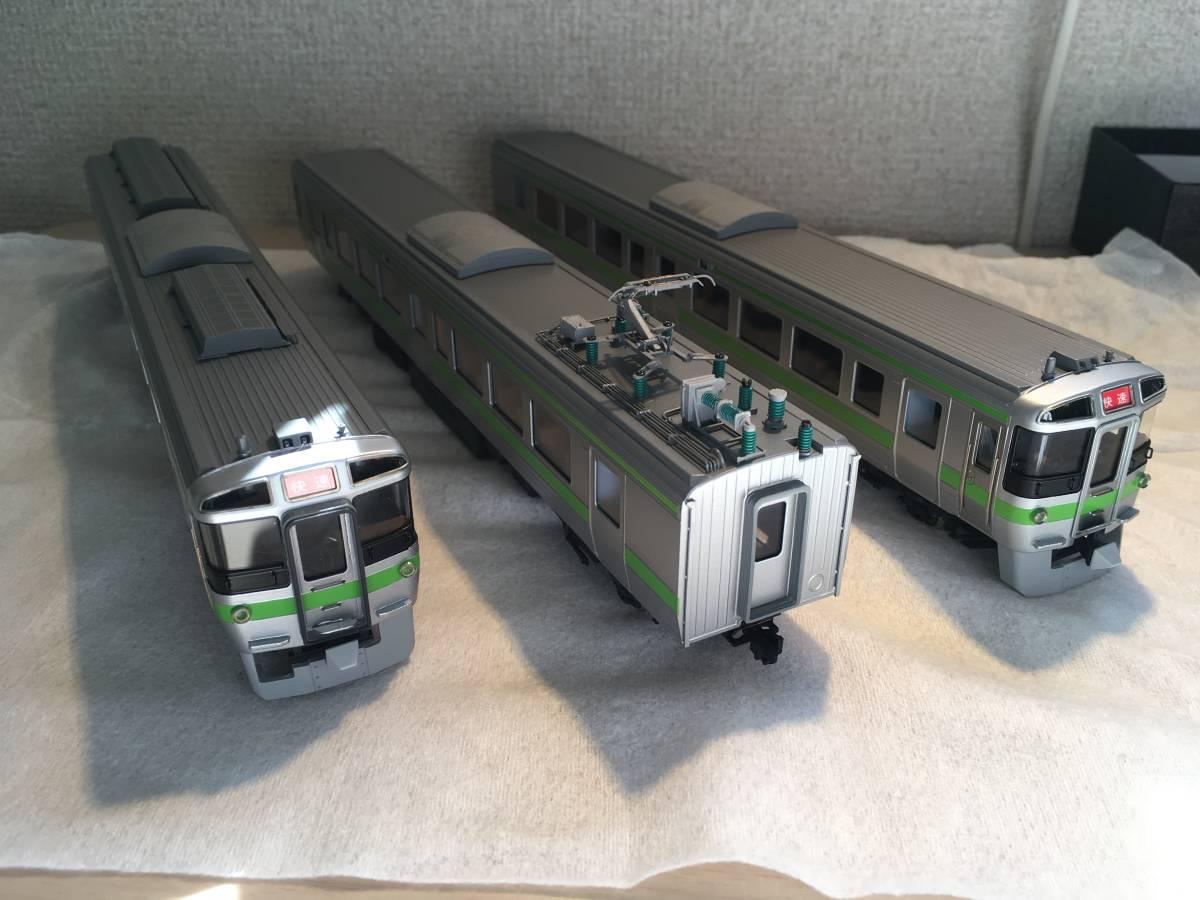エンドウ 721系3000番台 3両セット(普通車のみ、シングルアームパンタに交換)_画像1