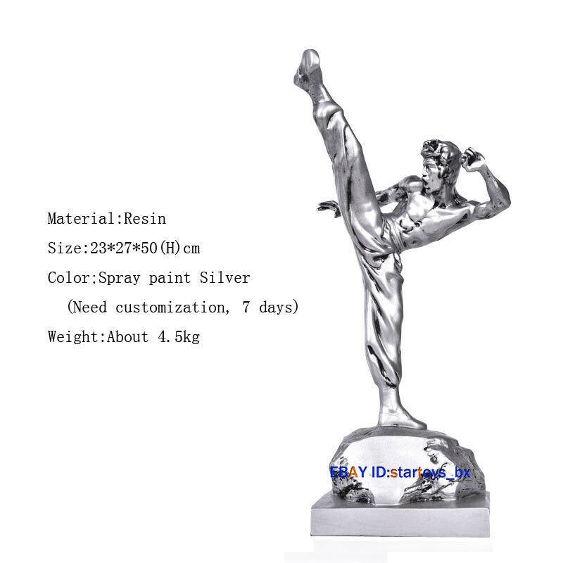 海外 限定品 送料込み ブルース・リー Bruce Lee フィギュア 置物 スタチュー レジン製 50cm 2_画像1