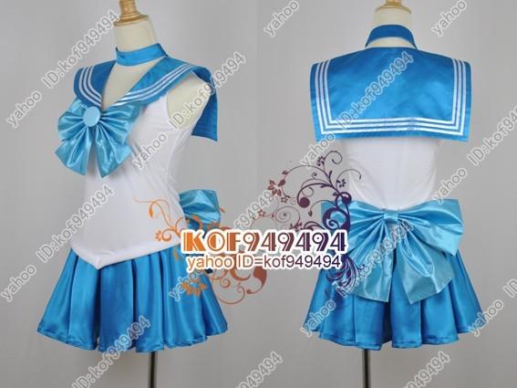 cos2876美少女戦士セーラームーン 水野亜美セーラーマーキュリー コスプレ衣装_画像3