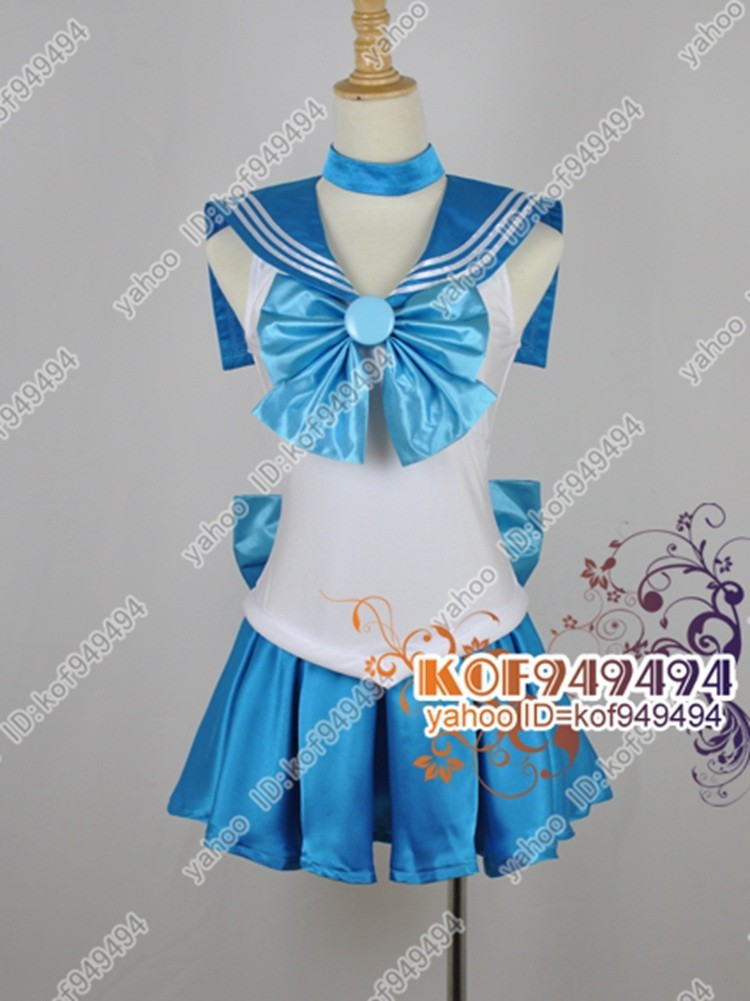 cos2876美少女戦士セーラームーン 水野亜美セーラーマーキュリー コスプレ衣装_画像1