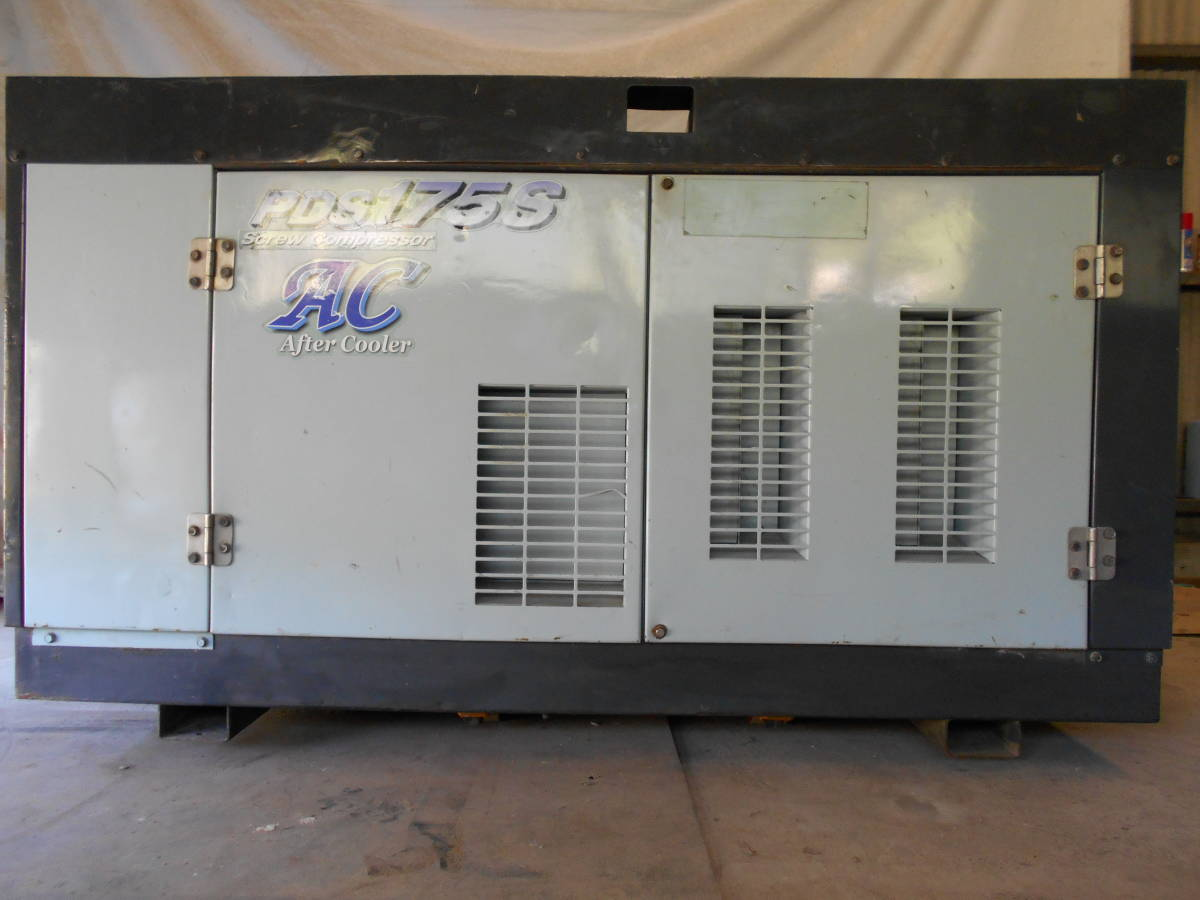 「中古 エアマン 北越工業 エンジン エヤーコンプレッサー PDS175SC アフタークーラー  」の画像3