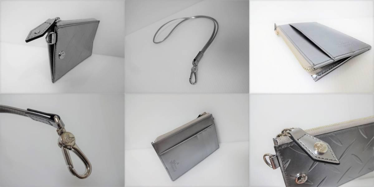 ヴィヴィアン ウエストウッド アクセサリーズVivienne Westwood Accessories【新品・カット&スラッシュ】フラグメントケース*牛革*SV