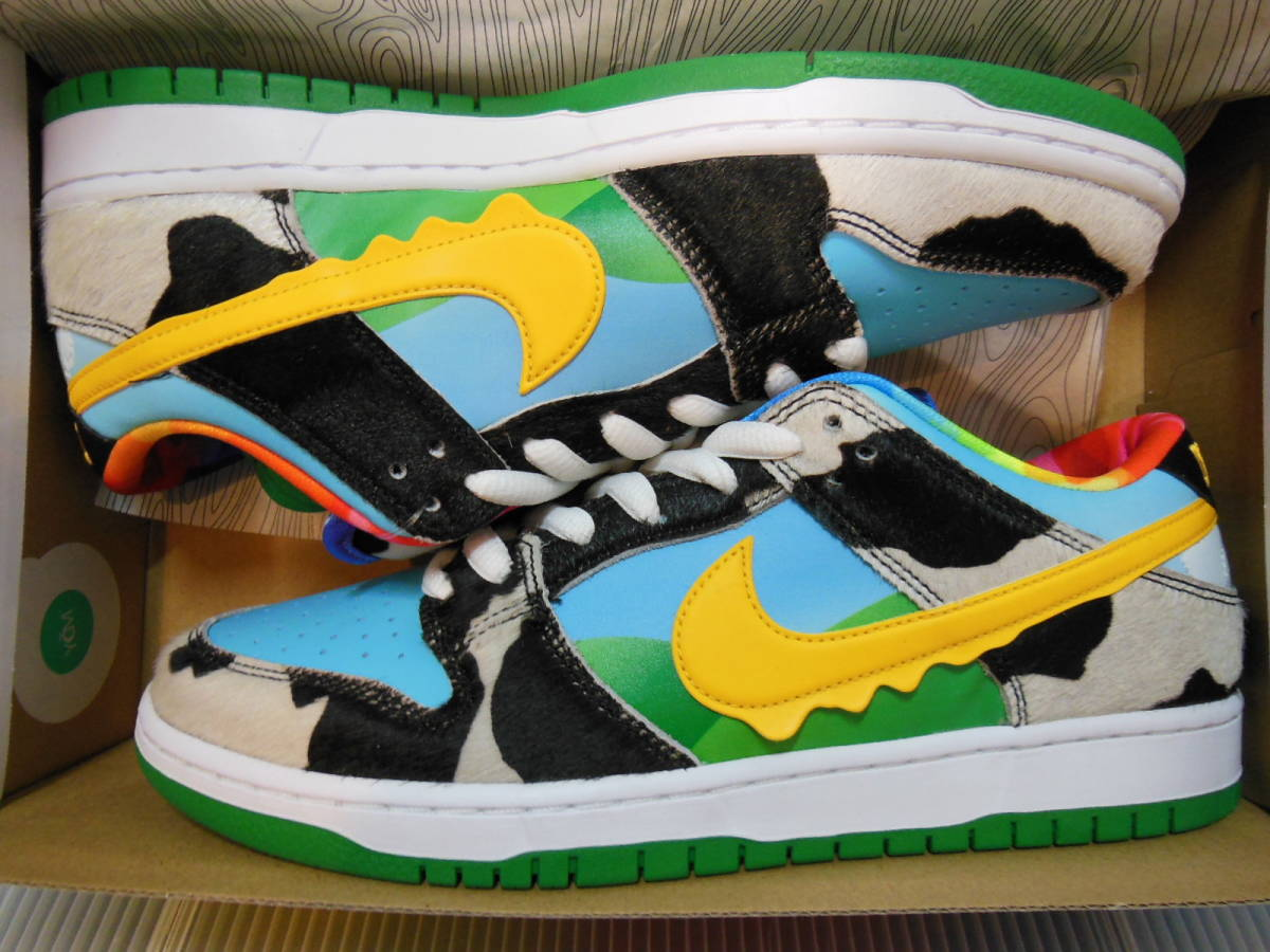 NIKE SB DUNK LOW PRO QS CU3244-100 BEN & JERRY'S CHUNKY DUNKY ナイキ ダンク ベン & ジェリーズ US9 27cm 新品 未試着 即決時送料無料_画像2