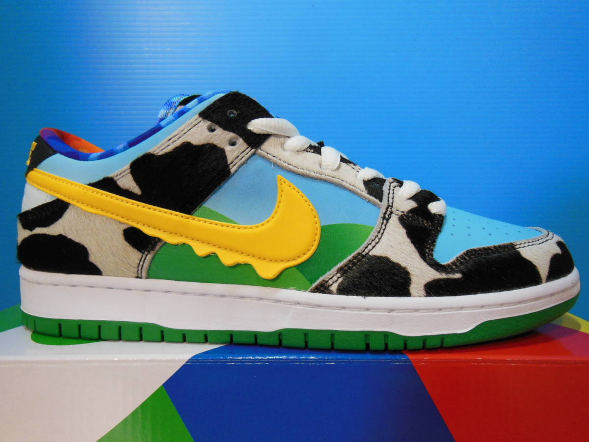 NIKE SB DUNK LOW PRO QS CU3244-100 BEN & JERRY'S CHUNKY DUNKY ナイキ ダンク ベン & ジェリーズ US9 27cm 新品 未試着 即決時送料無料_画像4