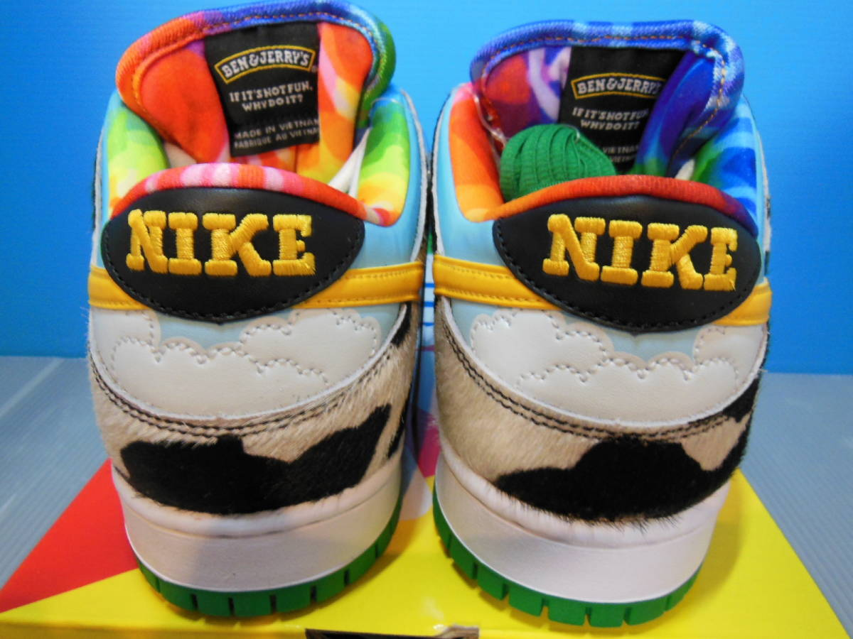 NIKE SB DUNK LOW PRO QS CU3244-100 BEN & JERRY'S CHUNKY DUNKY ナイキ ダンク ベン & ジェリーズ US9 27cm 新品 未試着 即決時送料無料_画像6