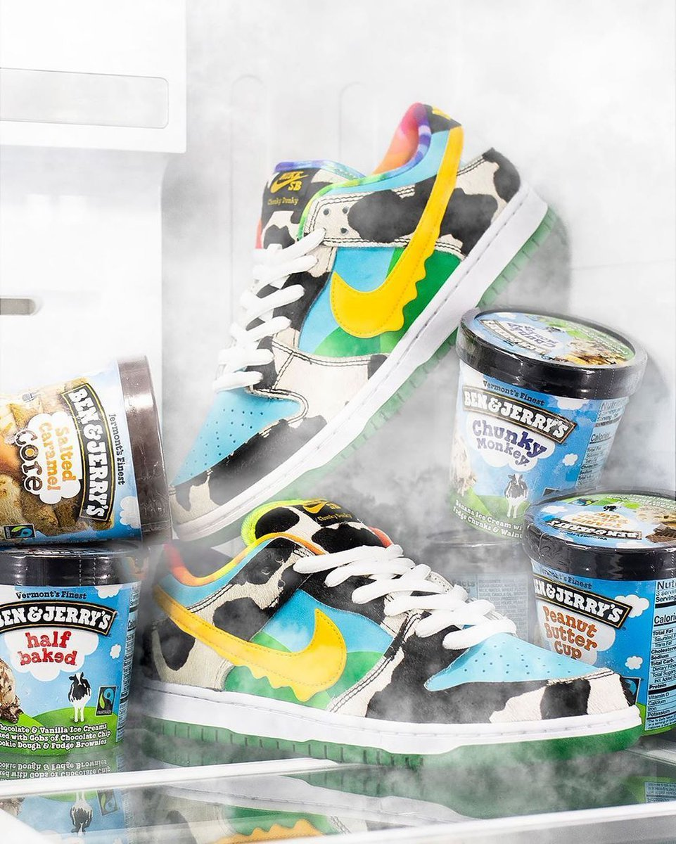 NIKE SB DUNK LOW PRO QS CU3244-100 BEN & JERRY'S CHUNKY DUNKY ナイキ ダンク ベン & ジェリーズ US9 27cm 新品 未試着 即決時送料無料_※画像はイメージです。