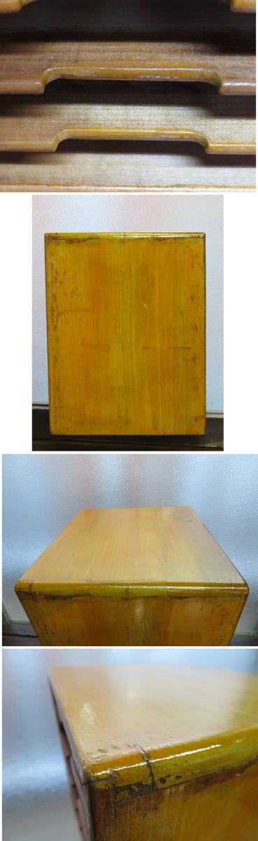 昭和レトロ 木製 書類入れ 6段 その2 横幅約25cm奥行約23cm高さ約29.6cm_画像3