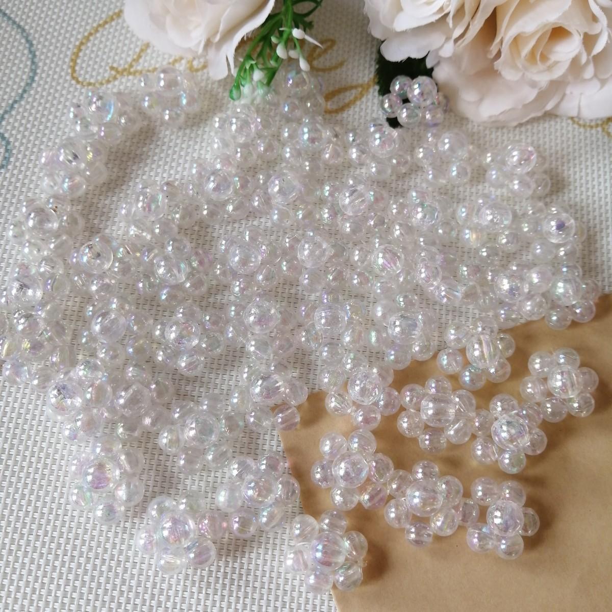 デコパーツ プラパーツ ハンドメイド 手作り リボン 花台 材料 パール 殻色Q