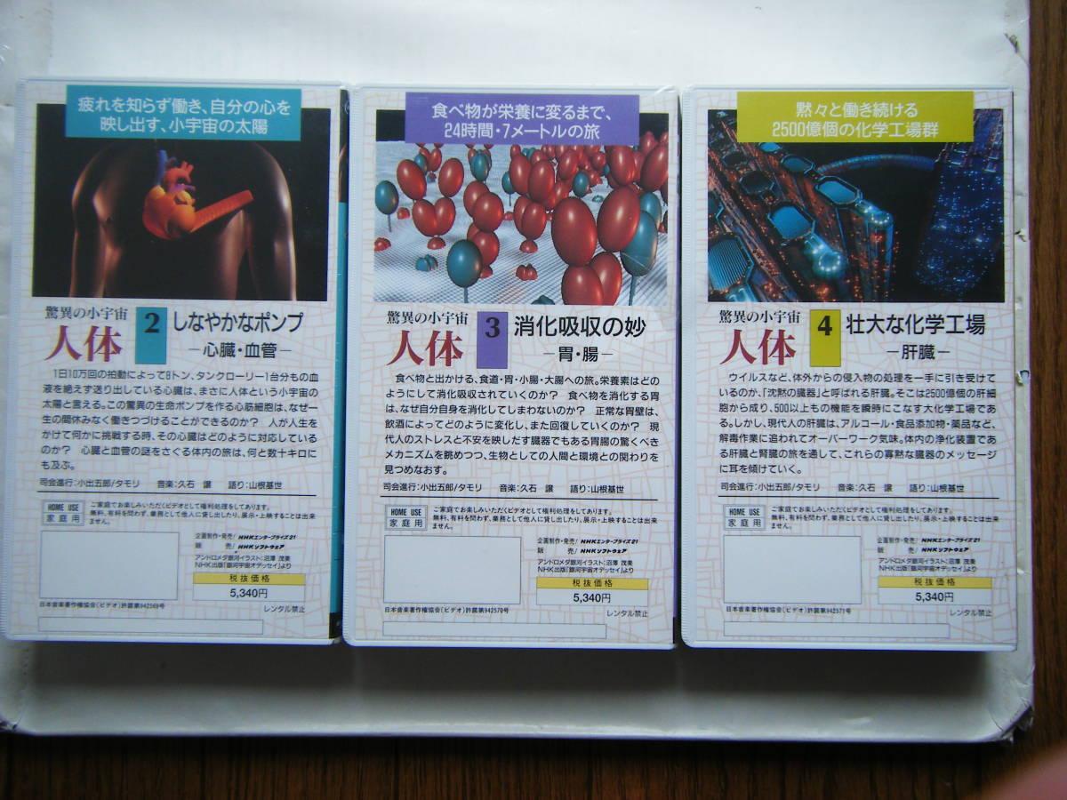 即決未開封?VHSビデオ3本 NHKスペシャル 驚異の小宇宙・人体「Vol.2 しなやかなポンプ」「Vol.3 消化吸収の妙」「Vol.4 壮大な化学工場」_画像2