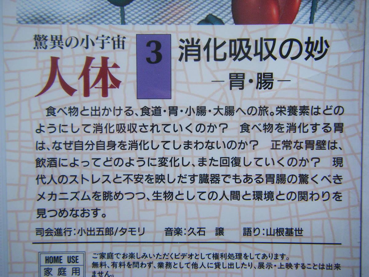 即決未開封?VHSビデオ3本 NHKスペシャル 驚異の小宇宙・人体「Vol.2 しなやかなポンプ」「Vol.3 消化吸収の妙」「Vol.4 壮大な化学工場」_画像6