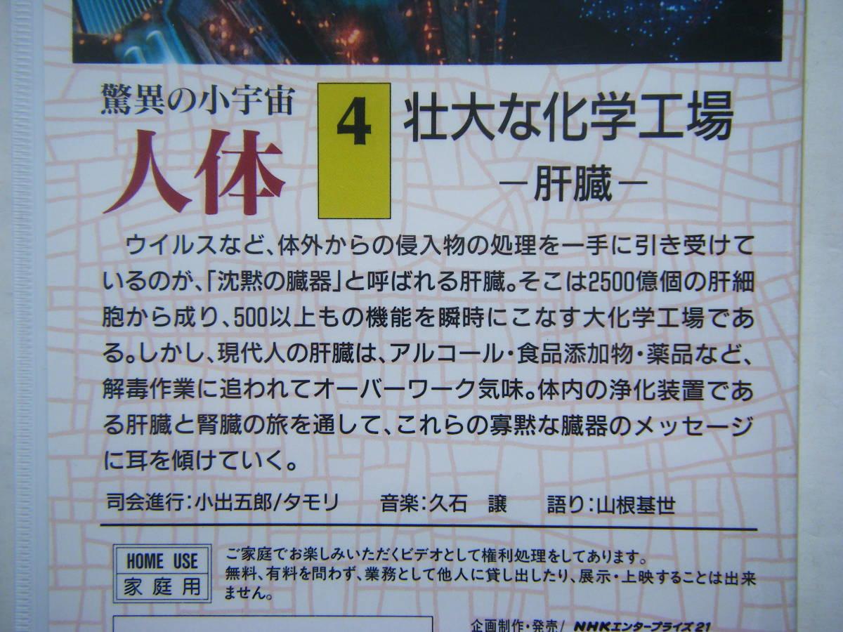 即決未開封?VHSビデオ3本 NHKスペシャル 驚異の小宇宙・人体「Vol.2 しなやかなポンプ」「Vol.3 消化吸収の妙」「Vol.4 壮大な化学工場」_画像7