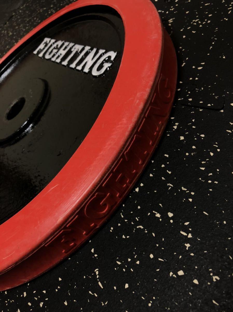 バーベルプレート 15kg ダンベル 28mm ラバープレート ベンチプレス インクライン ファイティングロード シャフト 筋トレ トレーニング_画像3
