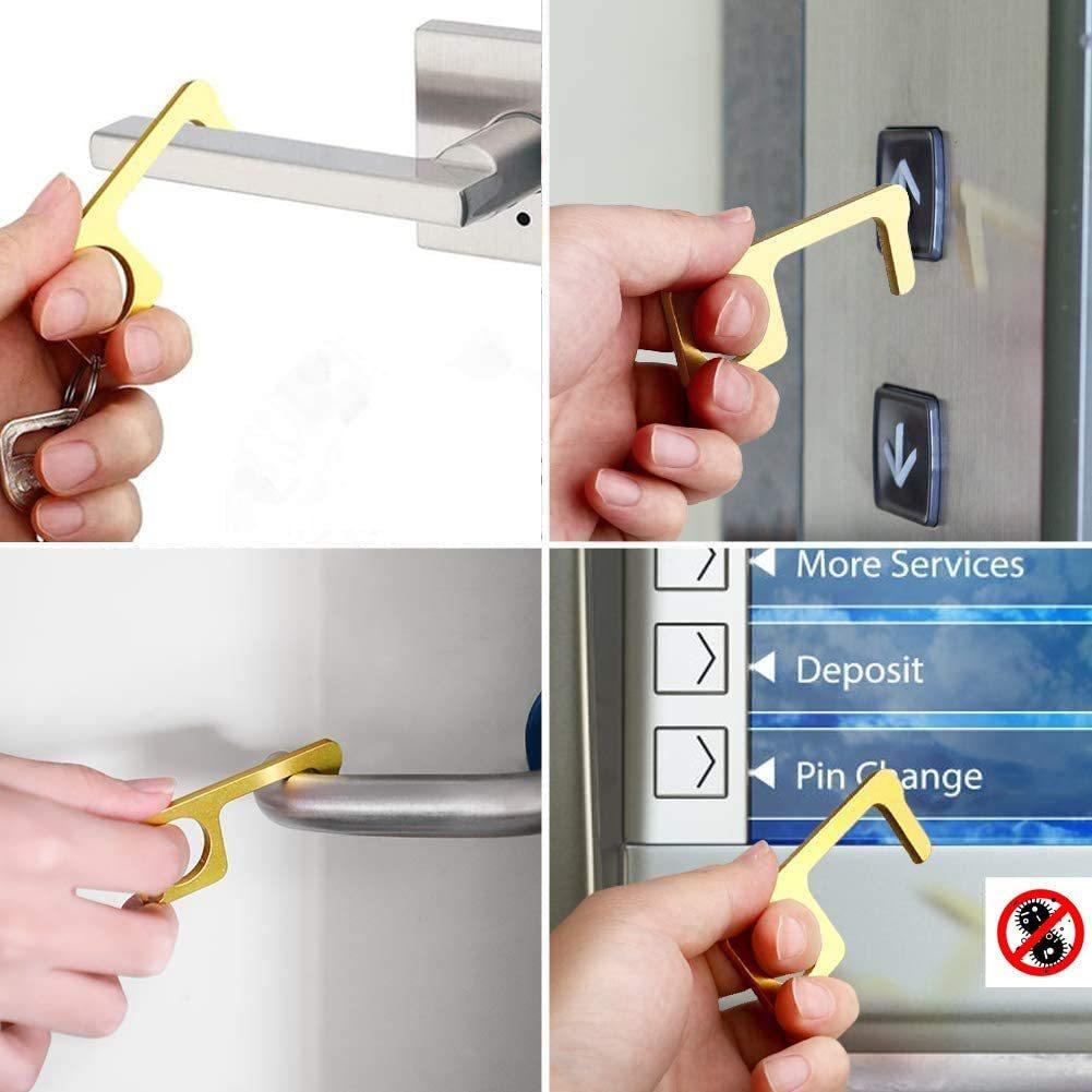 非接触ドアオープナー 携帯オープンドアツール 外出時 ボタン押し、スイッチ類押し 便利グッズ ウィルス対策商品 接触防止 4個セット_画像4