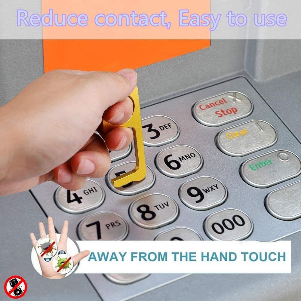 非接触ドアオープナー 携帯オープンドアツール 外出時 ボタン押し、スイッチ類押し 便利グッズ ウィルス対策商品 接触防止 4個セット_画像5