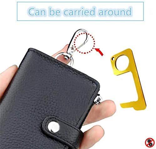非接触ドアオープナー 携帯オープンドアツール 外出時 ボタン押し、スイッチ類押し 便利グッズ ウィルス対策商品 接触防止 4個セット_画像1