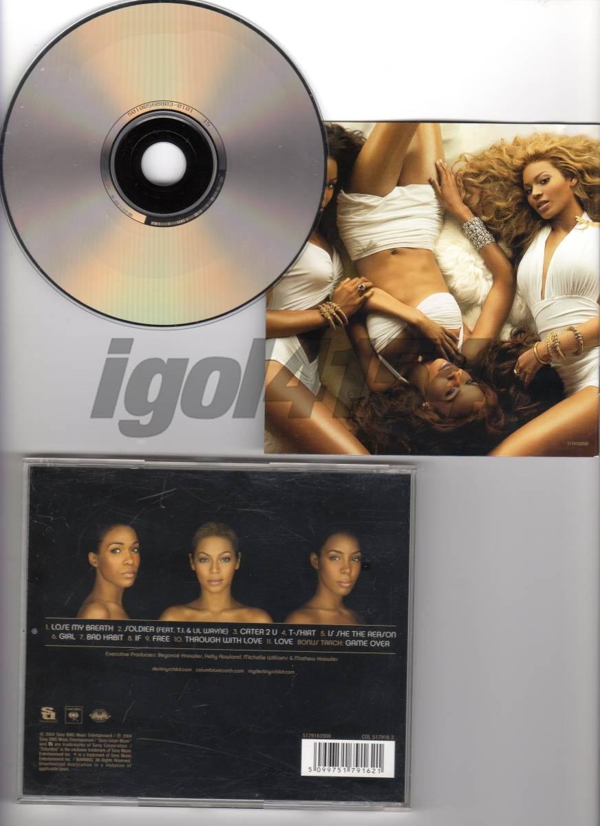 【中古CD】DESINY'S CHILD / DESTINY FULFILLED (輸入盤)_裏面(CD、ケース、ブックレット)