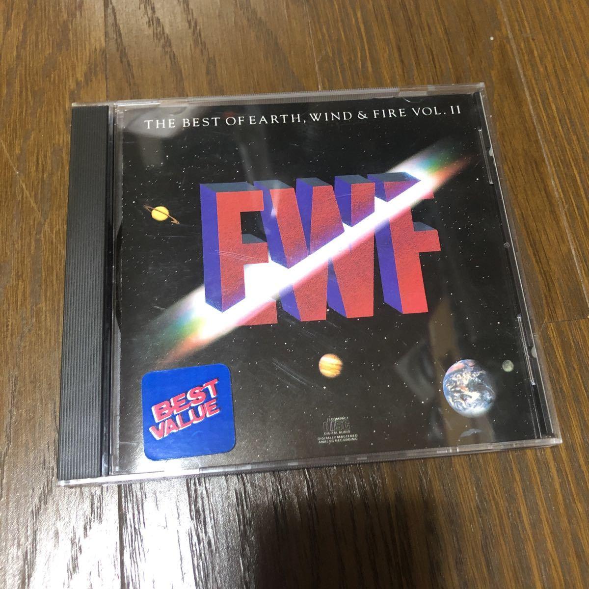 アース・ウィンド&ファイアー Earth, Wind & Fire The Best Of Earth Wind & Fire Vol. Ⅱ USA盤CD