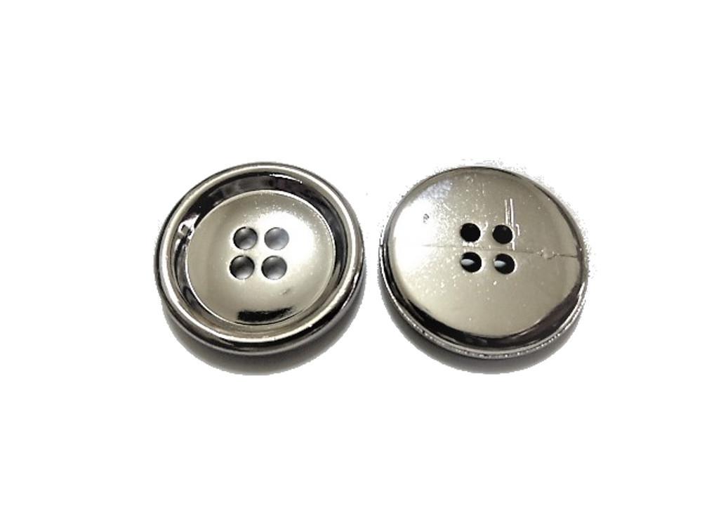 送料無料 手芸 素材 ジャケット用 21mm 4個 15mm 8個 プレ-ン シルバー色 メタル ABS ボタン 合計12個入り jk116s