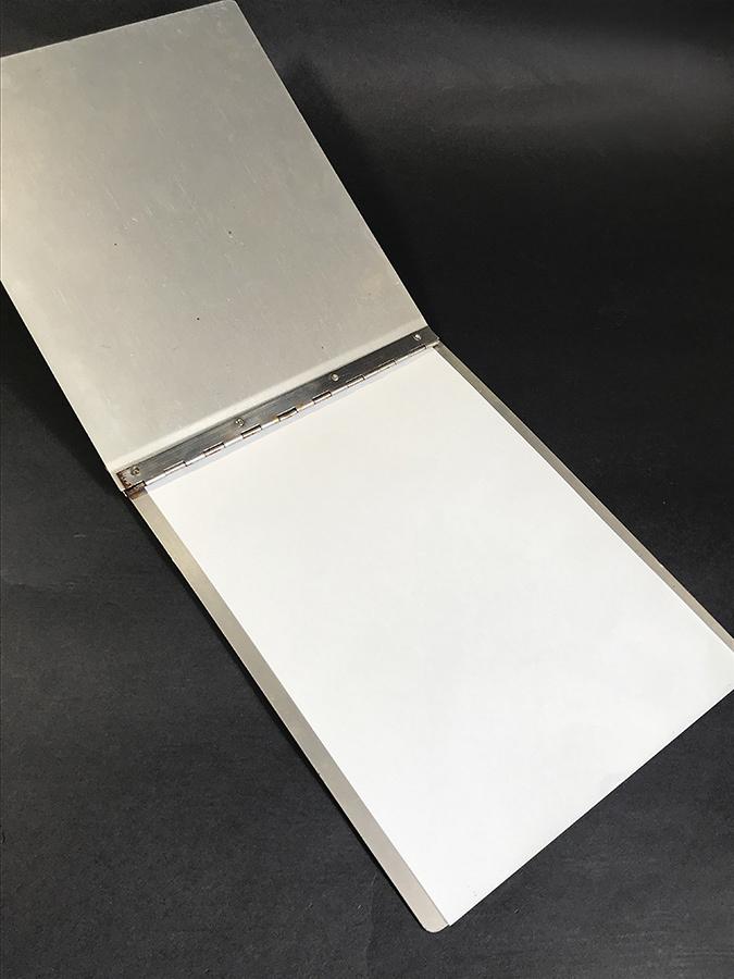1940's ビンテージ アルミ製バインダー/ライト/ファイル/o.c.white/gras/店舗什器/デスク/椅子/アンティーク/照明/ランプ/工業系/レジ/看板_画像6