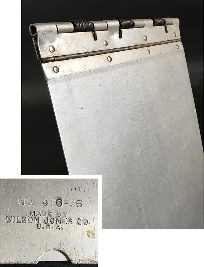 1940's ビンテージ アルミ製バインダー/ライト/ファイル/o.c.white/gras/店舗什器/デスク/椅子/アンティーク/照明/ランプ/工業系/レジ/看板_画像1