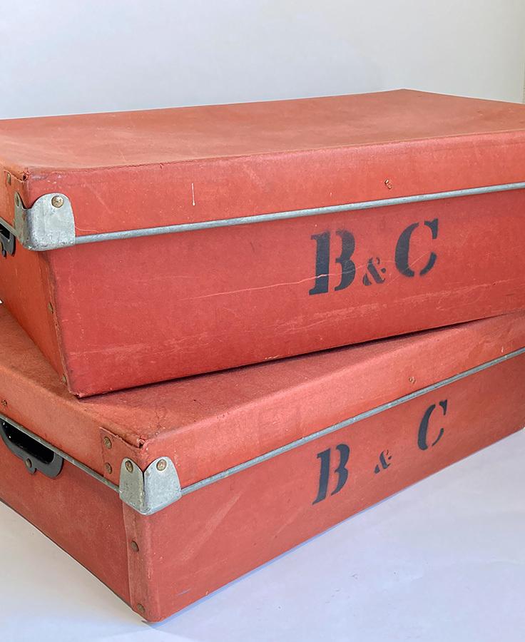 1940's イギリス【B & C】アンティーク 収納ボックス/ビンテージ/ランプ/照明/店舗什器/ハンガー/ラック/棚/ステンシル/O.C.WHITE/テーブル_画像5
